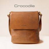 Crocodile Naturale Collection 2.0 直式翻蓋斜背包0104-07702