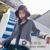 原宿毛衣外套女短款寬松春秋針織衫學生韓版網紅開衫「歐洲站」