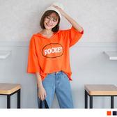 ~AB5457 ~字母印圖不收邊蝙蝠袖連帽寬鬆上衣OrangeBear