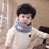 韓版兒童圍巾秋冬季節可愛寶寶圍脖男女童針織毛線保暖套頭脖套 美芭