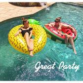 超大游泳圈菠蘿成人女腋下充氣浮圈加厚泳圈水上救生圈梗豆物語