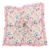 LAURA ASHLEY 繽紛花卉圖騰純棉帕領巾(粉紅色)989270