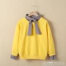 女童衛衣加絨加厚洋氣春秋裝新款中大童上衣兒童秋季長袖T恤 歌莉婭