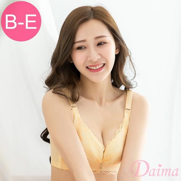 黛瑪Daima 幸福密語(B-E)立體抓皺蕾絲薄杯無鋼圈內衣_膚9071