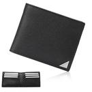 Calvin Klein經典LOGO鐵牌RFID防盜多卡短夾(黑色)103093