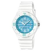 CASIO 格紋運動潛水風格腕錶-藍格子(LRW-200H-2C)