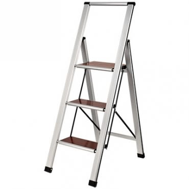 三階造型實木踏板鋁梯