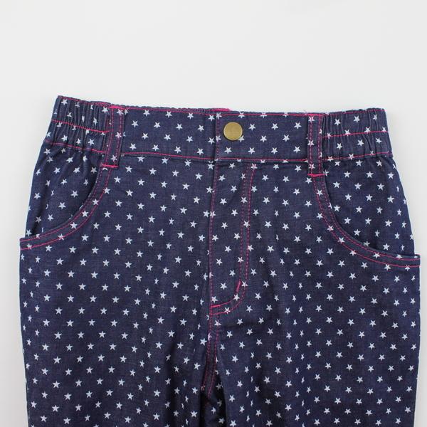 【愛的世界】星星圖案牛仔褲/6~10歲-中國製- ---秋冬下著