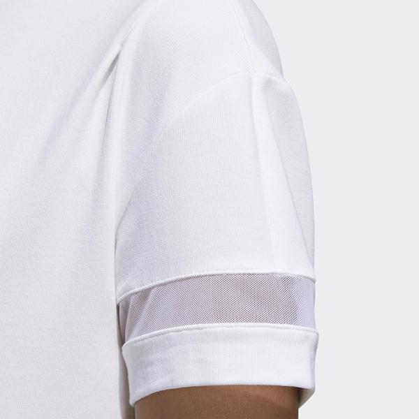 ADIDAS BADGE OF SPORT 女裝 短袖 休閒 慢跑 舒適 百搭 張鈞甯 白【運動世界】GJ9022