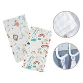 兒童口水巾六層紗高密褶皺紗布餵奶巾長方巾25X50cm-JoyBaby