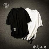 夏季短袖T恤男士加肥大碼寬鬆半袖體恤胖子上衣韓版潮流潮牌男裝  晴光小語