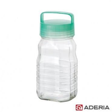 【ADERIA】日本進口長型醃漬玻璃罐1.2L(藍綠)