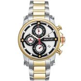 【BENTLEY】賓利 Veneur系列 紳裝狩獵者計時手錶 (白/金 BL1694-10787)