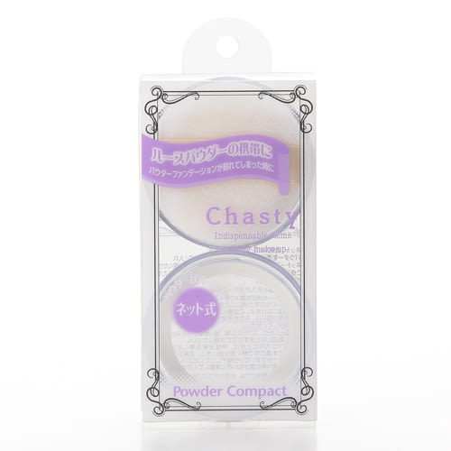 《日本製》Chasty 攜帶型迷你蜜粉盒(附蜜粉撲、篩網)  ◇iKIREI