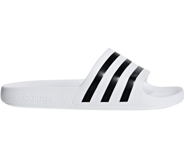Adidas ADILETTE AQUA男女款白底黑LOGO拖鞋-NO.F35539