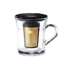 金時代書香咖啡 Cores 金屬濾網 咖啡濾杯組 Gold Filter Glass MUG C401