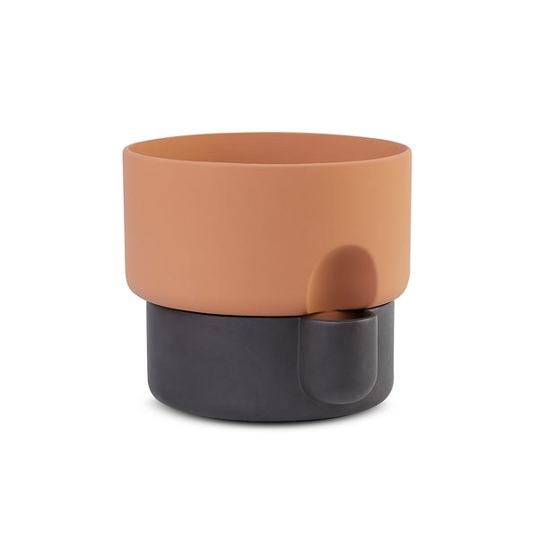 挪威 Northern Oasis Double Flower Pot in Small 15cm 綠洲系列 雙層 花盆 - 小尺寸(深褐色款)