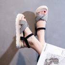 涼鞋女仙女風2021年夏季新款超火歐洲站厚底運動鬆糕一字扣帶女鞋 依凡卡時尚