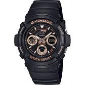 【CASIO 卡西歐】G-SHOCK 賽車運動手錶-玫瑰金x黑 AW-591GBX-1A4DR