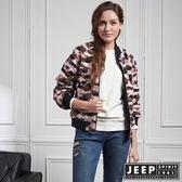 【JEEP】女裝 時尚簡約個性雙面外套 (迷彩/黑)
