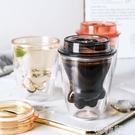 貓爪杯 WUXIN貓爪杯帶蓋咖啡杯雙層隔熱網紅水杯ins潮流家用牛奶杯早餐杯 韓菲兒