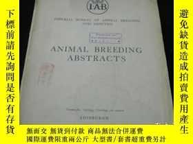 二手書博民逛書店罕見47年外文獸醫期刊《IAB,ANIMAL,BREEDING,