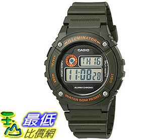 [美國直購] 手錶 Casio Mens Illuminator Quartz Resin Automatic Watch Green W-216H-3BVCF