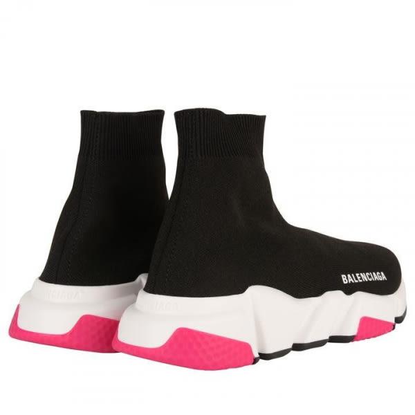 ■專櫃84折■Balenciaga Speed Trainer 針織黑色套襪女款運動鞋 粉紅色塊 IT 40