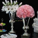 1061歐式鍍銀花瓶創意家居裝飾新房樣板房擺件結婚禮物臺面插花器 YL-CYTP203