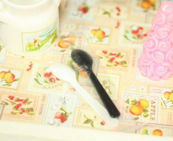 30入 獨立包裝 塑膠湯匙 奶酪匙 蛋糕匙DKH01