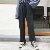 全館8折上折明天結束新款2018女裝春裝百搭寬鬆休閒褲正韓純色鬆緊腰闊腿褲長褲運動褲