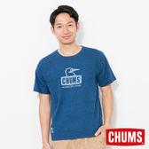 CHUMS 日本 男 Booby Face 圓領 短袖T恤 Indigo丹寧藍 CH011198N030