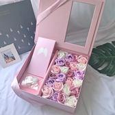 香皂花 抖音驚喜盒子 放禮物的花盒 香皂玫瑰花禮盒女友媽媽閨蜜結婚禮品