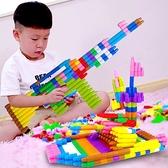 積木 塑料拼插火箭大號子彈頭積木玩具3-6歲幼兒兒童小男孩子拼裝益智【快速出貨】