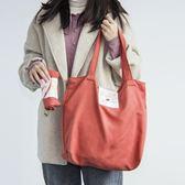 布藝購物袋折疊便攜簡約百搭復古風可愛大號超市環保袋側背手提包【全網最低價】