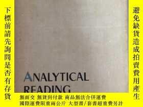 二手書博民逛書店《ANALYTICAL罕見READING》 英語分析讀物【196