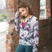 【8:AT 】外套 M-XL (花漾紫)(未滿4件恕無法出貨,退貨需整筆退)
