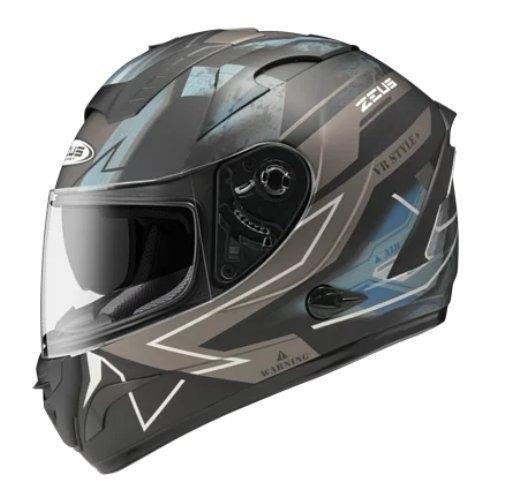 ZEUS 瑞獅安全帽,ZS-806F,II68/消光黑銀