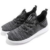 adidas 休閒慢跑鞋 Cloudfoam Pure 黑 白 雪花 低筒 基本款 襪套式 女鞋 運動鞋【PUMP306】 DB0694