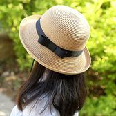 女童草帽夏天沙灘遮陽帽女出游草編帽