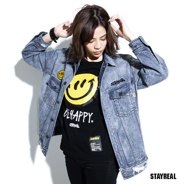 STAYREAL BE HAPPY 牛仔外套
