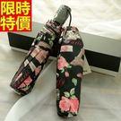 雨傘-摺疊傘花朵防曬超大創意自動遮陽傘6...