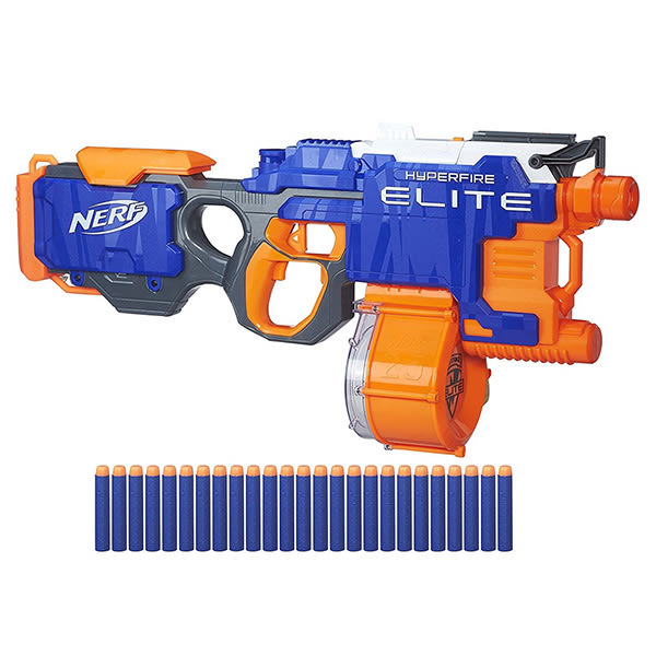 NERF兒童射擊玩具 孩之寶Hasbro 菁英系列 強速機關連發 B5573