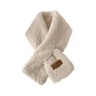 短款毛毛絨羊羔絨圍巾