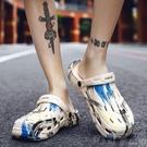 涼拖鞋男2020新款夏洞洞鞋潮外穿涼鞋包頭大頭拖鞋防滑軟底沙灘鞋 町目家