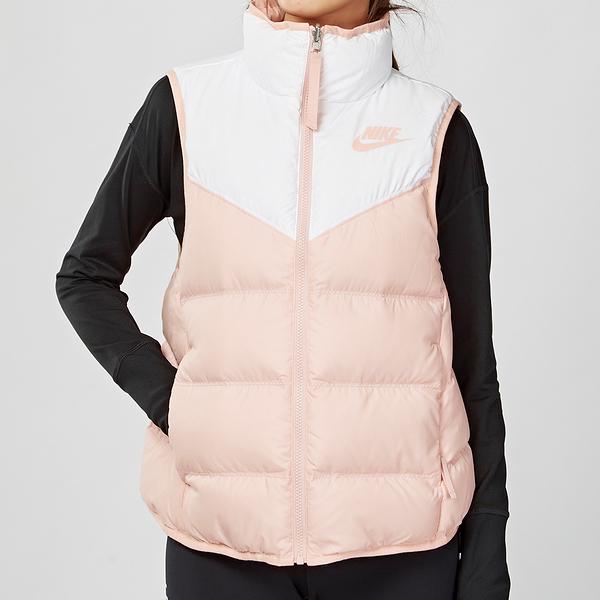 Nike Sportswear Vest 女子 粉白 雙面 羽絨 保暖 休閒 背心 939443-101