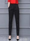 2020新款春秋夏季哈倫褲女褲寬鬆直筒黑色薄款九分休閒職業西裝褲 依凡卡時尚
