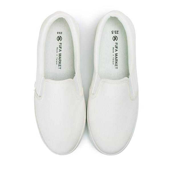 【富發牌】純白素面厚底懶人鞋-白 8023H
