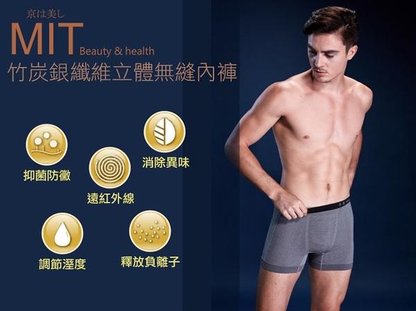 【穿好褲,銀在這】京美立體無縫 能量銀纖維 男士平口褲三件/組