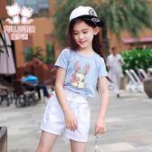 童裝女童短袖t恤兒童上衣夏季新款T恤小女孩夏裝上衣潮 店家有好貨